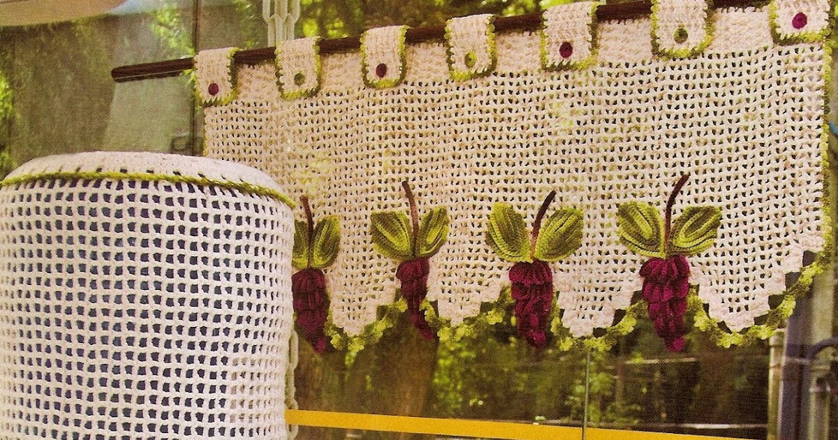 Como fazer capa para galão de água croche com uvas - CROCHE COM