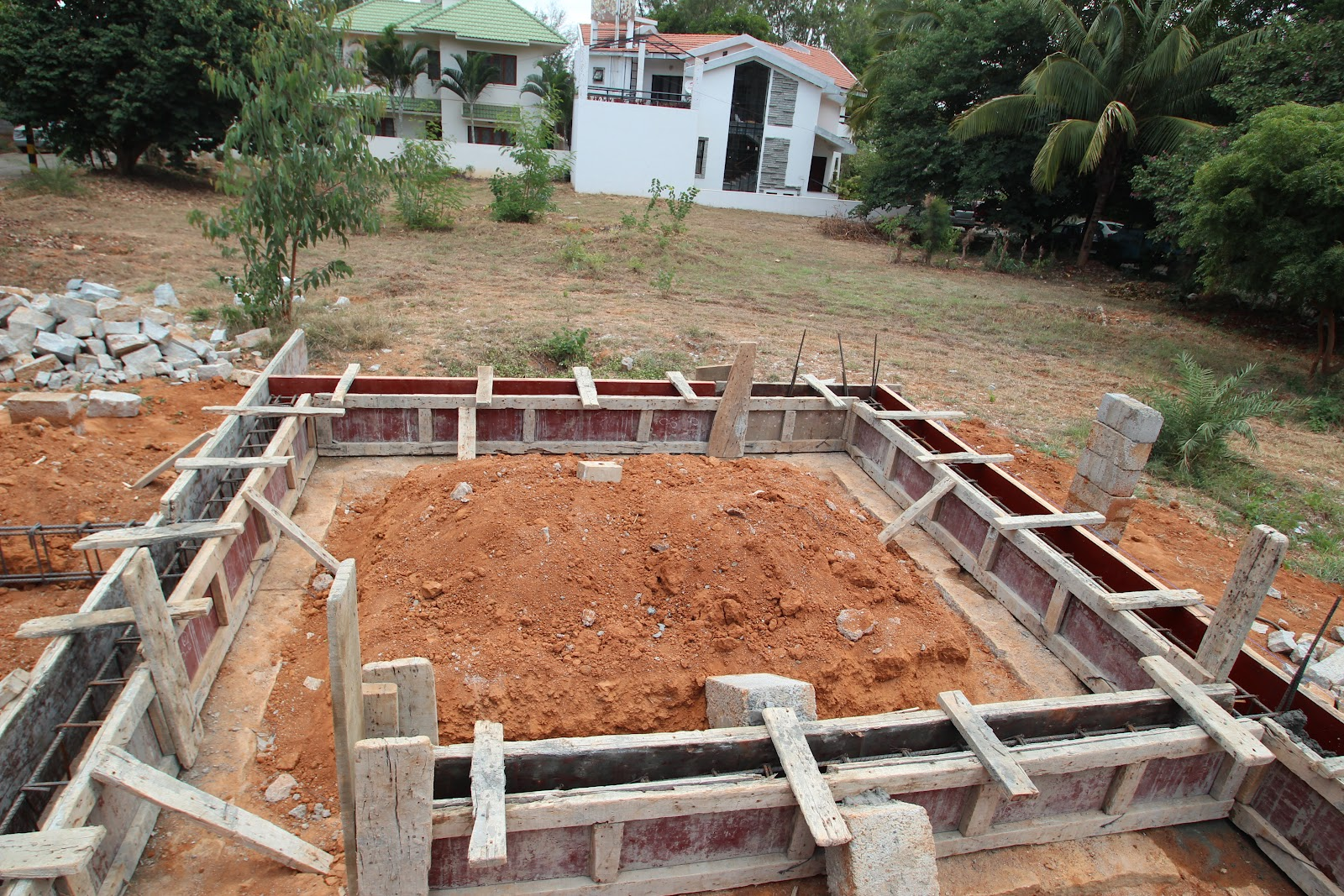 Building house in india step by step for Building a house step by step