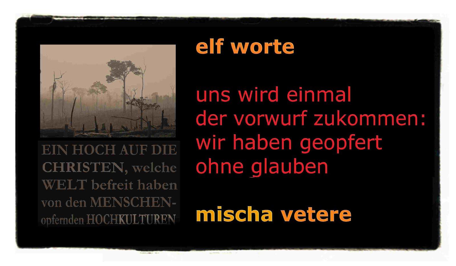 rainforest THE MENTAL REVOLUTION mischa vetere onze mots poème elf worte GEDICHT regenwald