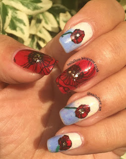 Remembrance Poppies OPI Spy Who Loved Me Reverse Stamping