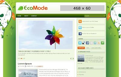 ecomode-free-blogger template