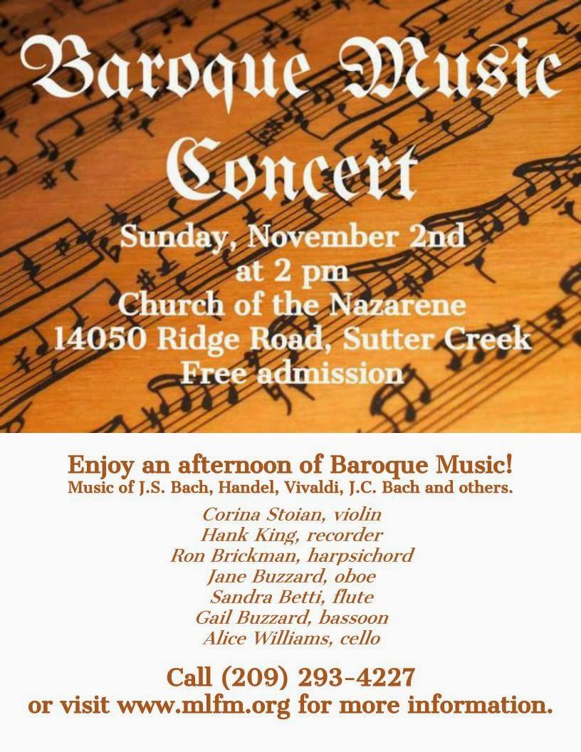 Baroque Music Concert - Sun Nov 2