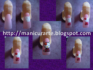 Manicura Hello Kitty nails