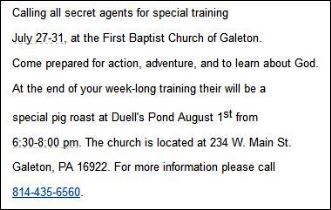 7-27-31 Calling All Secret Agents