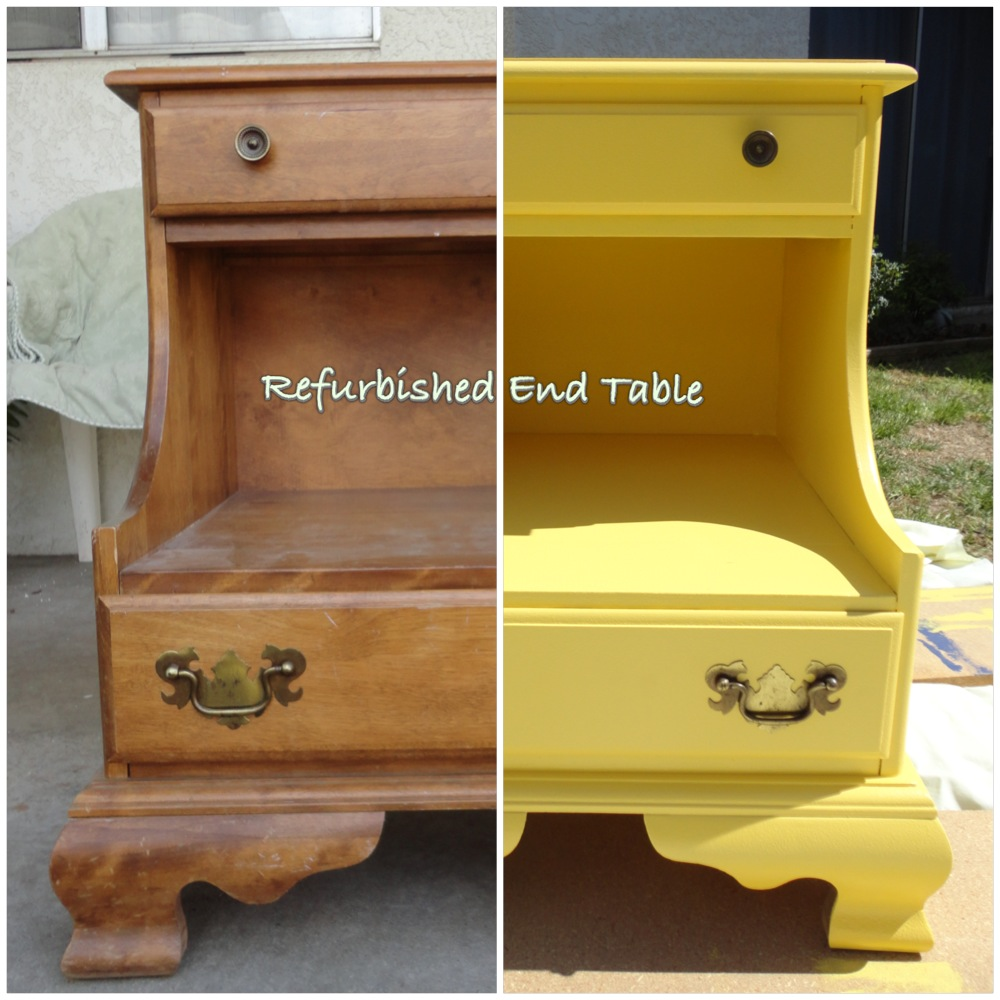 Clunky Crafts Refurbished End Table Tutorial