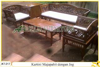 Set Meja & Kursi Tamu Jog Ukiran Kartini Majapahit Kayu Jati
