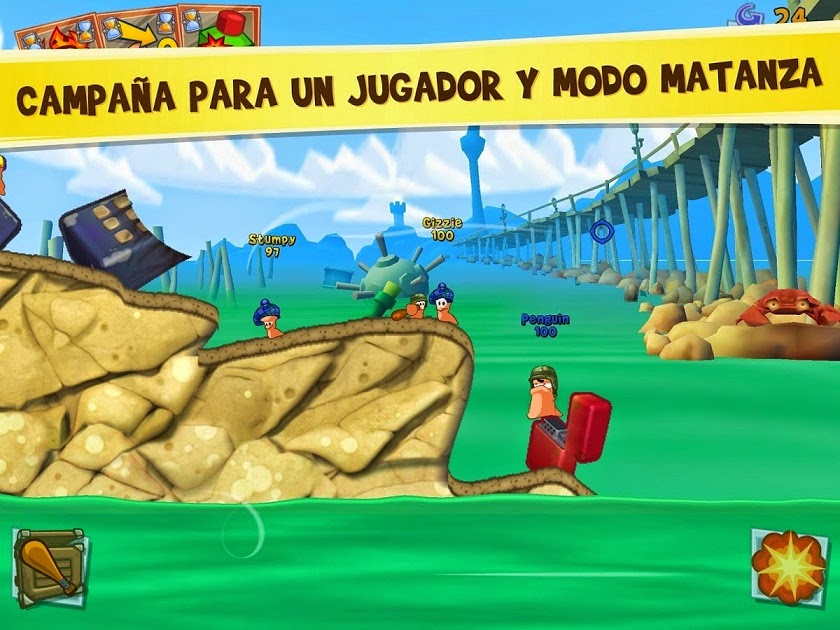 Worms 3 para Android, iPhone e iPad, Vuelven los Gusanos más Guerreros