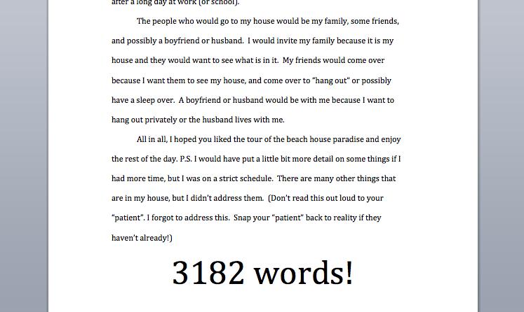 descriptive dream house essays