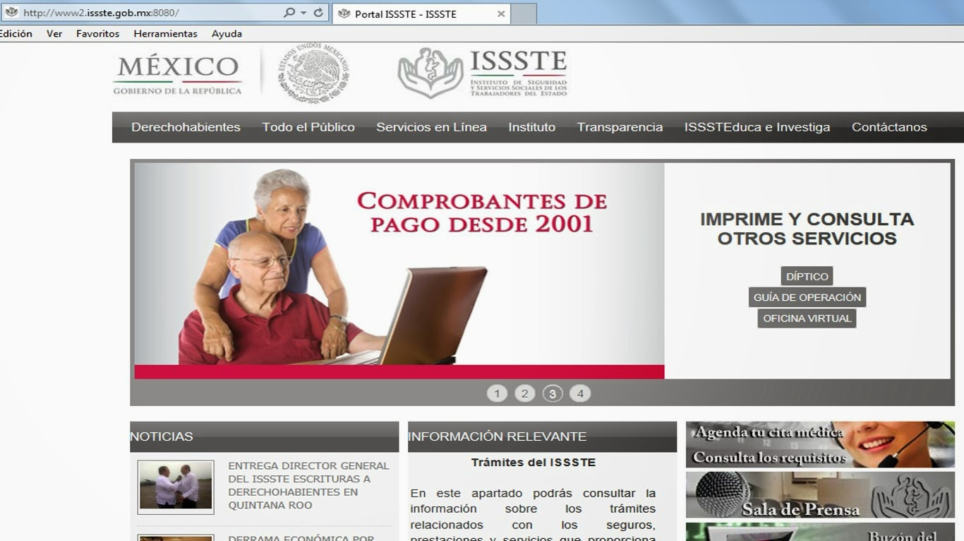 Radio vip podr n pensionados del issste obtener for Oficina virtual del