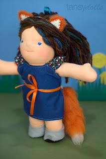 doll costume fox waldorf dolls bamboletta dragonflys hollow dfh
