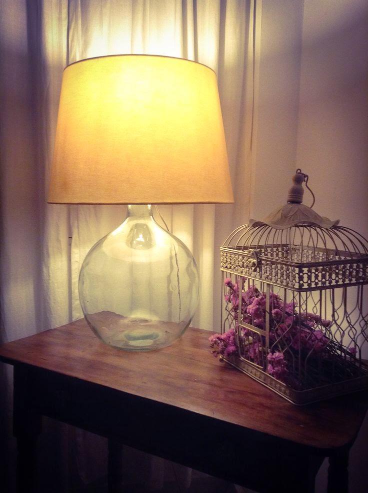 damajuana hecha lámpara