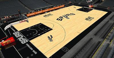 NBA 2K14 Spurs HD Court Mod