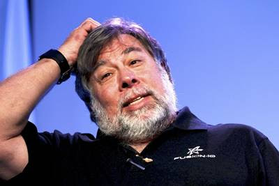 Steve Wozniak, co-fundador da Apple ao lado de Jobs