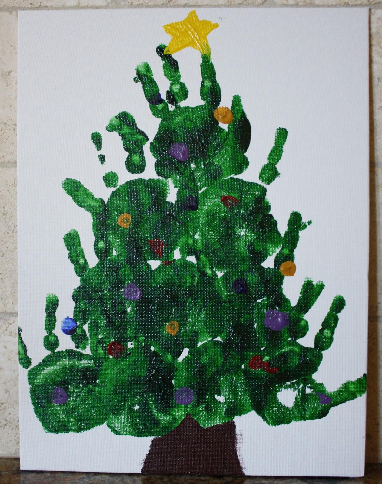 Christmas Craft - Handprint Christmas Trees