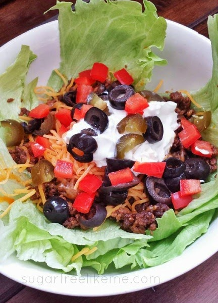 Low Carb Taco Salad without the shell
