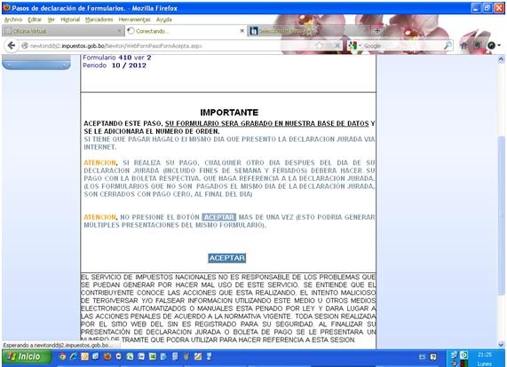 Error en newton la p gina amarilla server application for Oficina virtual impuestos