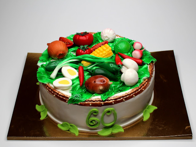 Birthday Cake with Vegetables