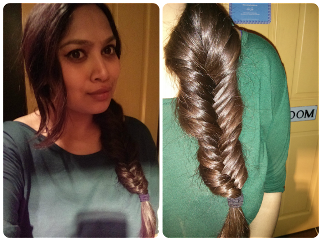 no wash hair, day 5 hair, hair challenge, desi hair, long hair care, no poo hair, fishtail braid