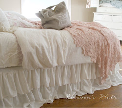 ruffled linen bedskirt