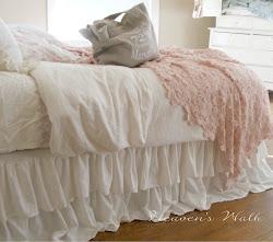 ruffled linen bedskirt