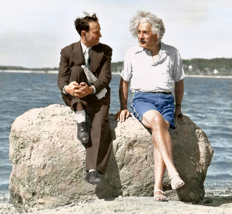 Albert Einstein en Long Island en el verano de 1939