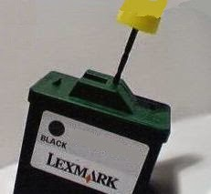 place where to perforate the 17 Lexmark cartridge