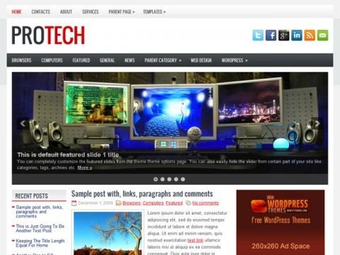 Free ProTech Fantastic Tech News WordPress Theme