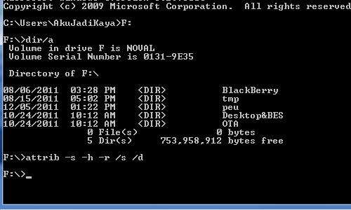 Cara Mengembalikan File/Folder Yang Di Hidden Oleh Virus