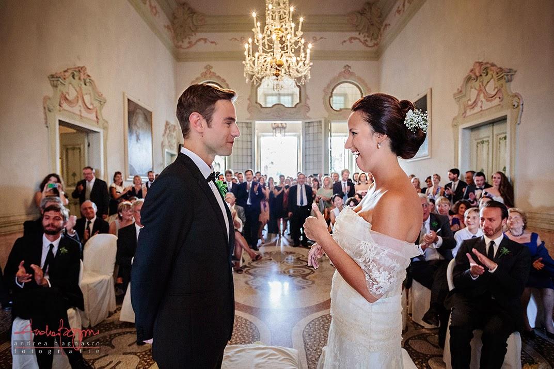 wedding vows at Villa Durazzo in Santa Margherita Italy