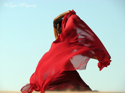 Fashion photos, woman in red, Sigal mitgartz