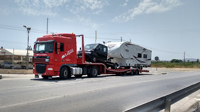 5th wheel caravan recovery and repair, Spain