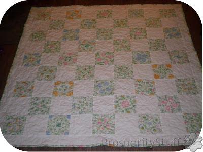 ProsperityStuff Vintage Sheet Kaleidoscope Quilt