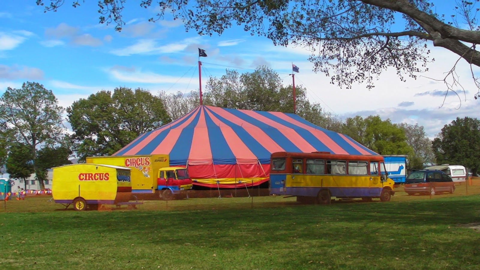 A photo of a Circus Tent Palmerston North New Zealand 2015 & James Fagan History Blog: The History of the Circus in New Zealand