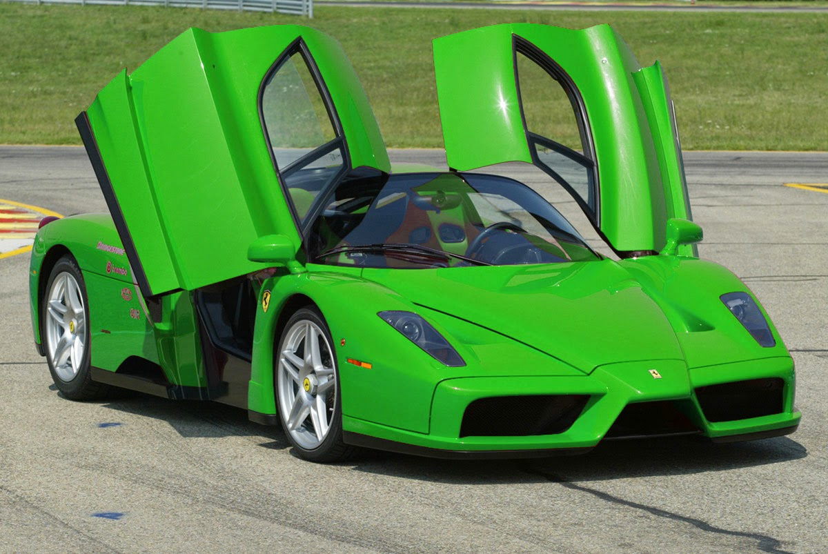 wallpaper green ferrari cars - photo #21