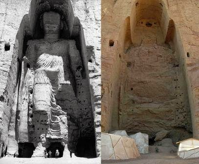 http://en.wikipedia.org/wiki/Buddhas_of_Bamiyan#/media/File:Taller_Buddha_of_Bamiyan_before_and_after_destruction.jpg
