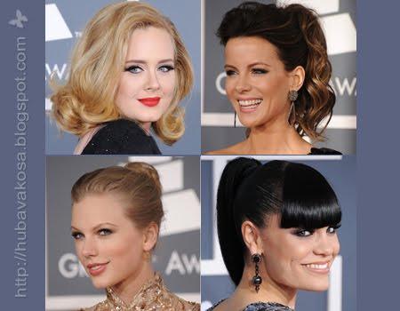"""Звездни прически от """"Грами"""" 2012"""