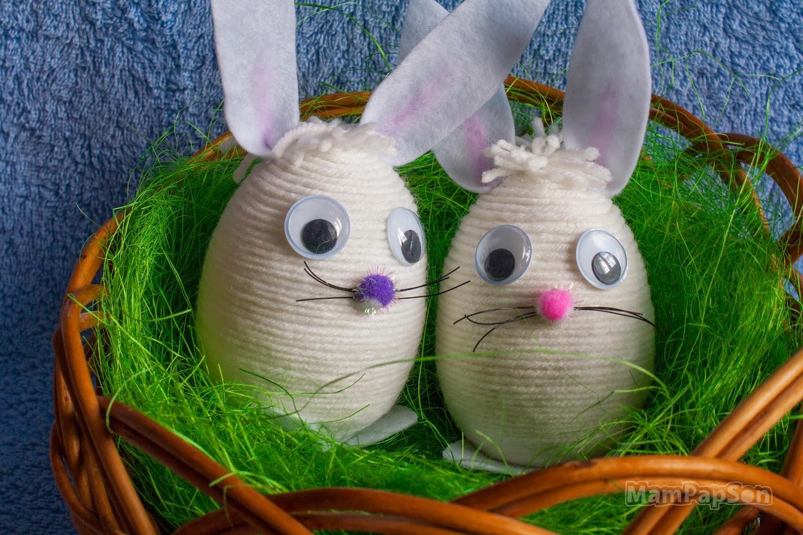 пасхальный кролик из яйца