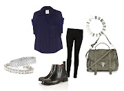 MIH Jeans shirt, JBrand black skinny jeans, Topshop studded boots and .