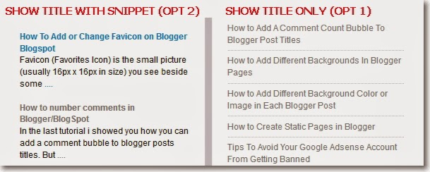 Pasang Widget Recent Post Pada Blogspot