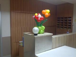bunga balon - meja