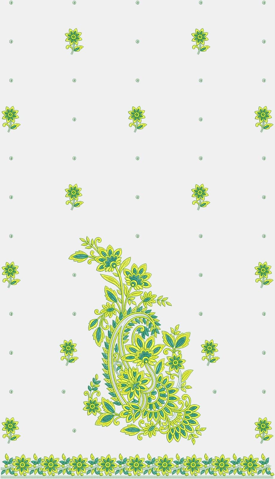 Embdesigntube Zari Border Suits Embroidery Designs