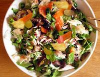 Salada com Verduras e Frutas (vegana)