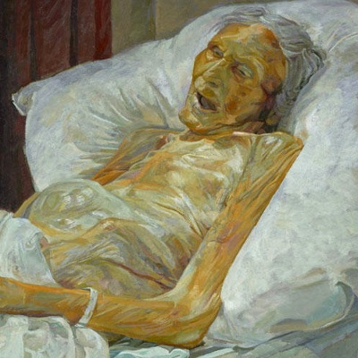 Annie Mary Todd, deathbed portrait by Daphne Todd