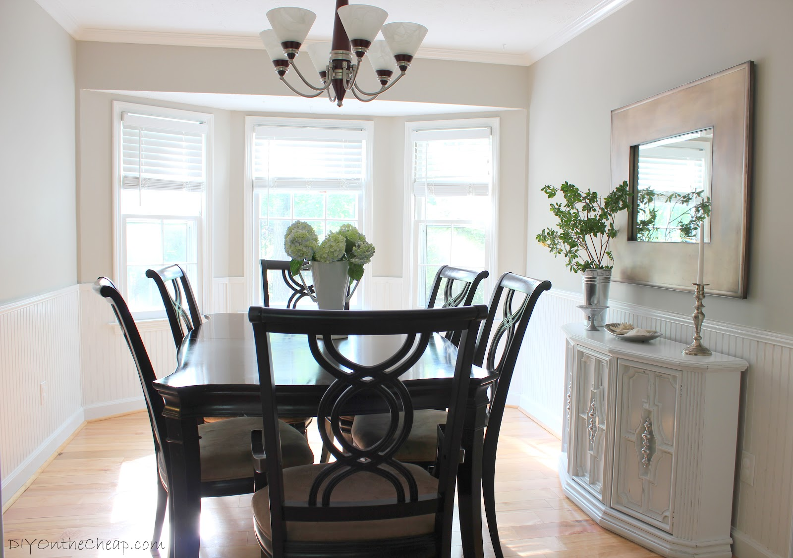 Dining room makeover phase one erin spain for Diy dining room ideas