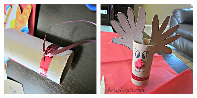 reindeer rudolph toilet paper roll craft