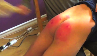 LIam getting his bottom paddled in Straight Lads Spanked guys spanking video