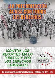 POR LOS DERECHOS LABORALES Y SOCIALES, CONTRA EL RECORTE DE LO PÚBLICO - Tod@s a la Plaza del Palil