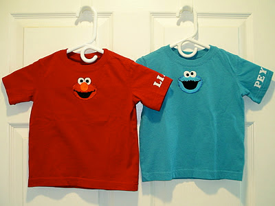 personalized elmo and cookie monster shirts
