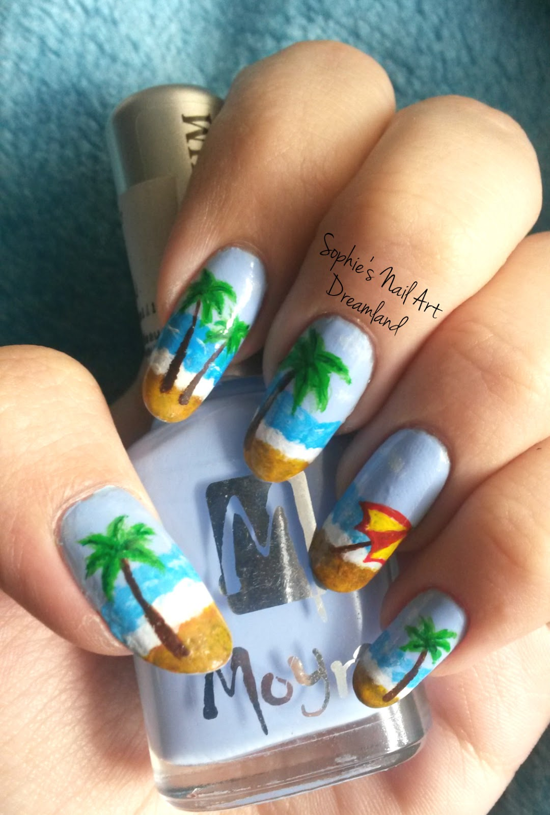 Nail Art Marathon 2015 - 4. Palm trees | Sophie\'s Nail Art Dreamland