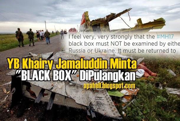 MH17 : YB KJ Minta Russia Mahupun Ukraine Kembalikan Kotak Hitam